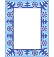 frame with trees and snowflakes vector image vector image