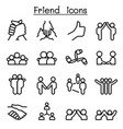 friendship relationship icons in thin line style vector image vector image