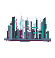 futuristic city with skyscrapers vector image vector image