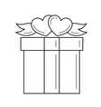 gift box line icon vector image vector image