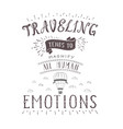 hand-lettering quote of travel and hot vector image
