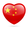 Heart icon of China vector image