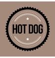 Hot Dog vintage stamp vector image vector image