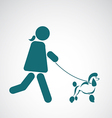 image of an walking dog vector image vector image