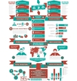 INFOGRAPHIC DEMOGRAPHICS BUSINESS RED vector image vector image