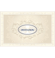 Invitation or Wedding frame with Floral background vector image