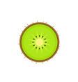 kiwi in cut top view bright icon vector image vector image