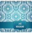 lace blue background vector image vector image