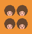 little boys emoticon set kawaii characters vector image vector image