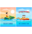 lovely summer collection vector image vector image