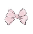 pink cute bow vintage hand drawn vector image