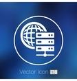 Planet Server icon symbol design workstation world vector image