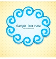 Pretty frame vector image