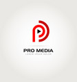 pro media logo symbol icon vector image