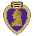 purple heart war medal vector image vector image