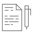 quiz thin line icon school and education exam vector image vector image