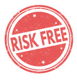 risk free grunge rubber stamp vector image vector image