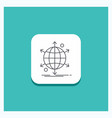 round button for business international net vector image vector image