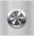 Round switch knob button on metallic non slip