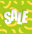 sale background with banana vector image vector image