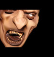 satan face with scary teeth vector image