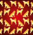 seamless pattern chinese dog traditional vector image