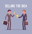 selling the idea vector image vector image