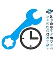 Service Time Icon With Copter Tools Bonus vector image vector image