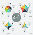set 4 infographic design layouts vector image