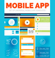 set of mobile app layout templates vector image vector image