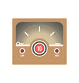 square retro style speedometer with low and high vector image