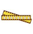 tape measure with ghost vector image vector image