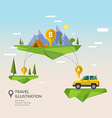 Traveling By Car vector image vector image
