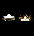 two antique nameplates vector image