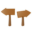 two wooden sign left and right vector image
