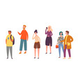 various people character pose urban person vector image