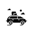 vehicle travel family car icon vector image vector image