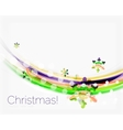 Wave line with snowflakes Christmas abstract vector image vector image