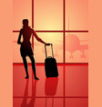 woman at the airport vector image