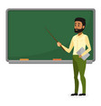 young arab teacher in modern clothes standing near vector image vector image