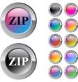 ZIP multicolor round button vector image vector image