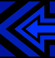 Left Arrow Background Blue vector image