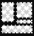 puzzle piece set puzle seamless vector image