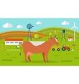 Cow on Farmyard Concept vector image