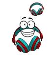 Cartoon DJ headset vector image