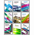 abstract striped background set vector image vector image