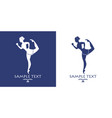 ancient greece girl running silhouette symbol vector image vector image