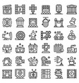 art director icons set outline style vector image vector image