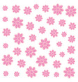 background decoration pink flowers vector image vector image