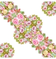 Beautiful Watercolor Summer Garden Blooming vector image